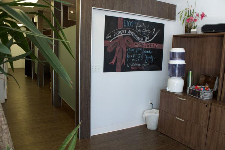Chiropractic Calgary AB Waiting Room Chalk Board