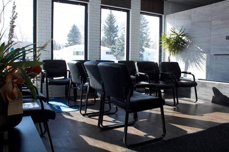 Chiropractic Calgary AB Waiting Room
