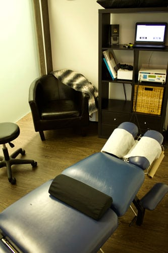 Chiropractic Calgary AB Adjustment Table